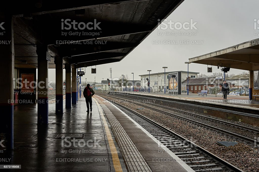 Train station, platform, day picture stock photo