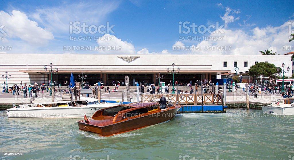 Train station Santa Lucia in Venice stock photo
