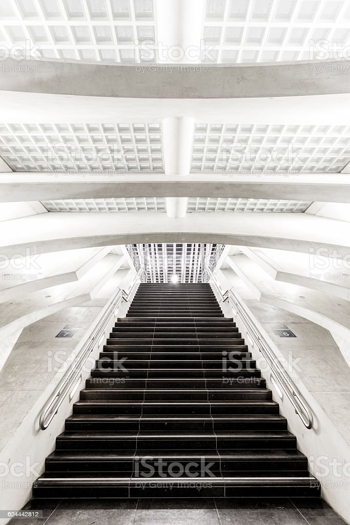 Train Station Stairs stock photo
