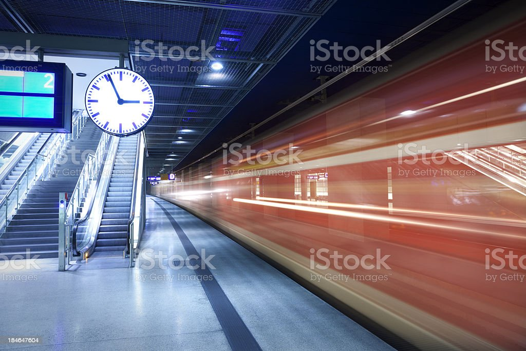 train station with a clock stock photo