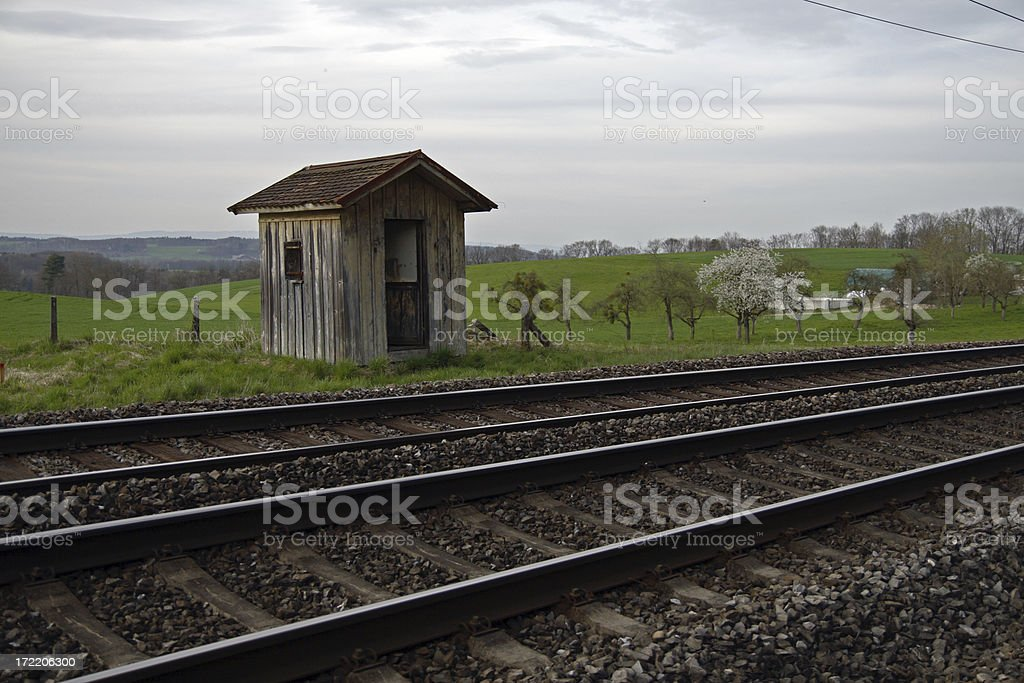 Train Stop royalty-free stock photo