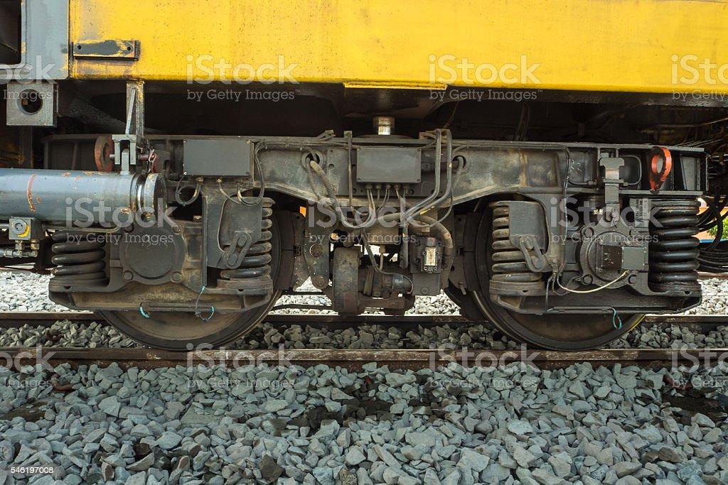 train suspension. stock photo