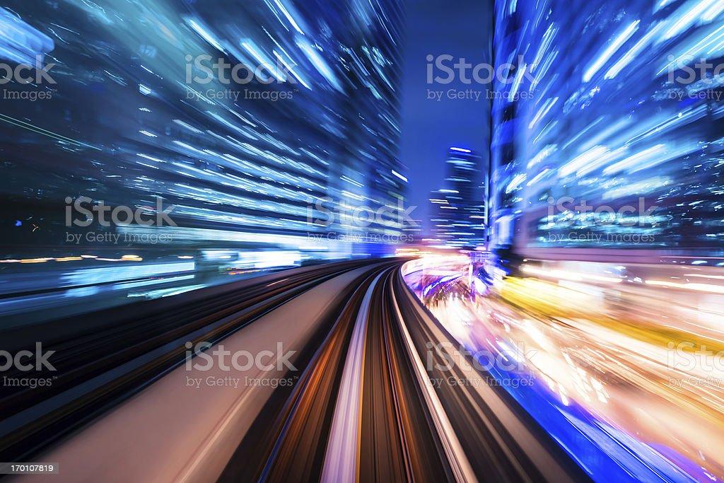 train through city royalty-free stock photo