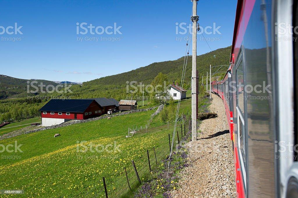 Train to Bergen stock photo