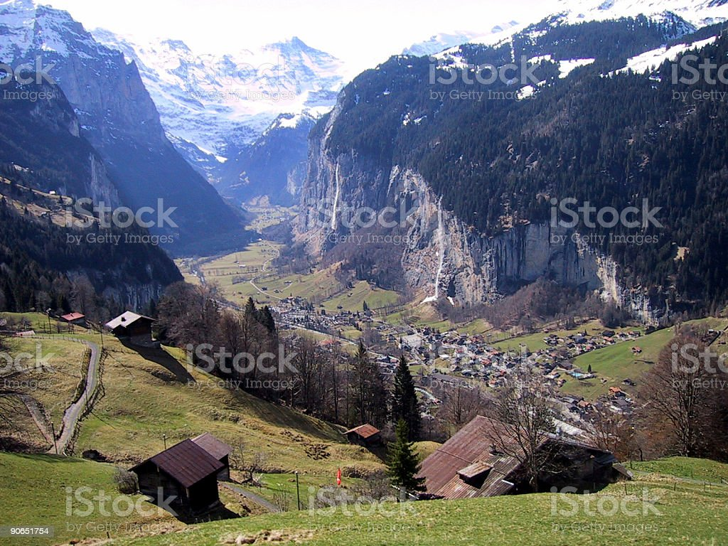 Train to Jungfrau royalty-free stock photo