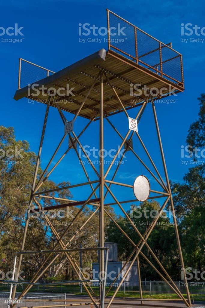 Train Tower stock photo