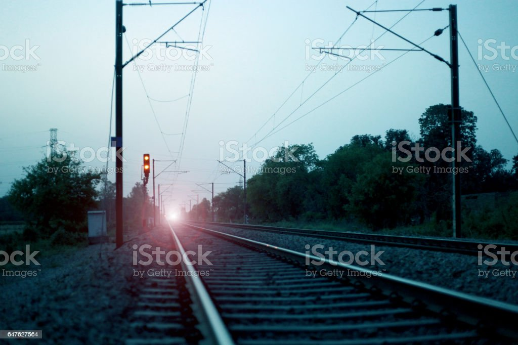 Train Track Background stock photo