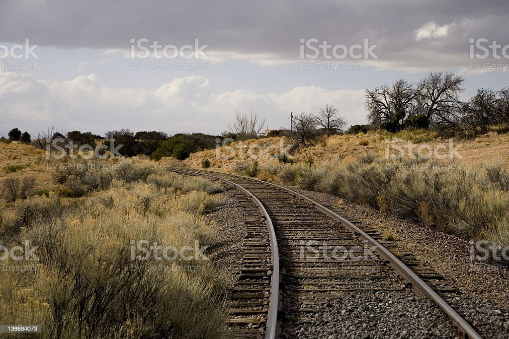 Train track in the South West stock photo