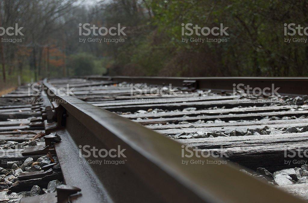 Train Track On A Rainy Day royalty-free stock photo