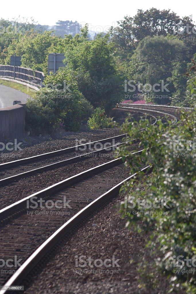 Train track royalty-free stock photo