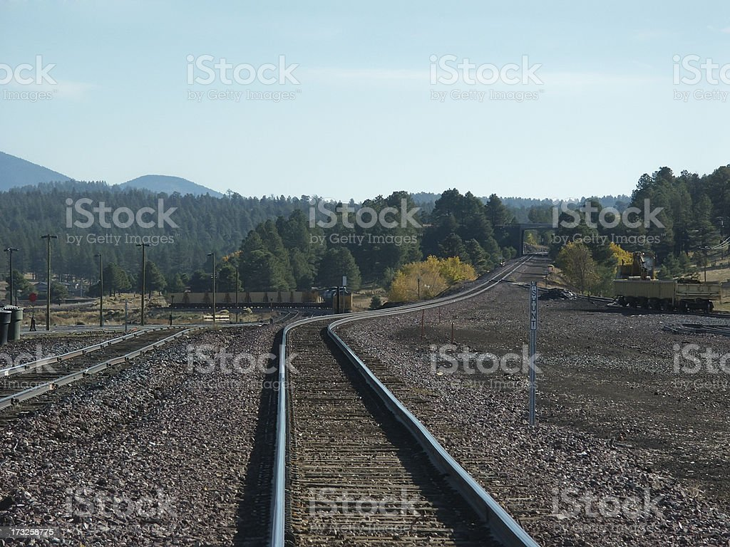 Train Tracks disappearing into the distance royalty-free stock photo