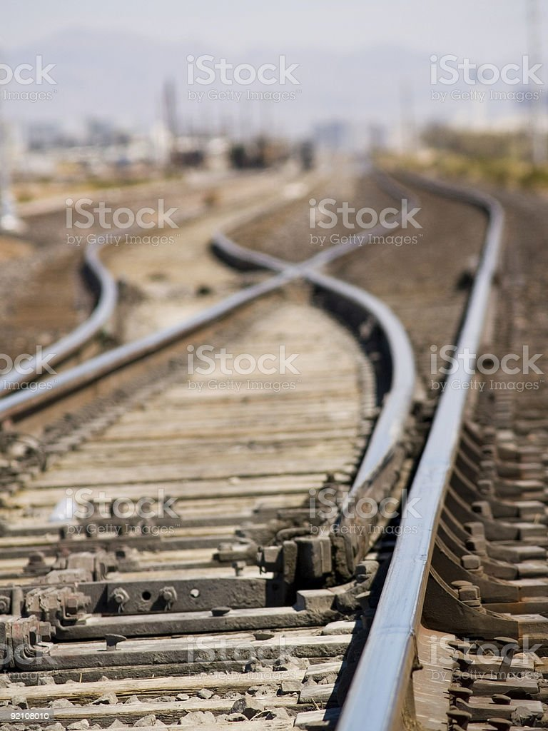 Train tracks royalty-free stock photo
