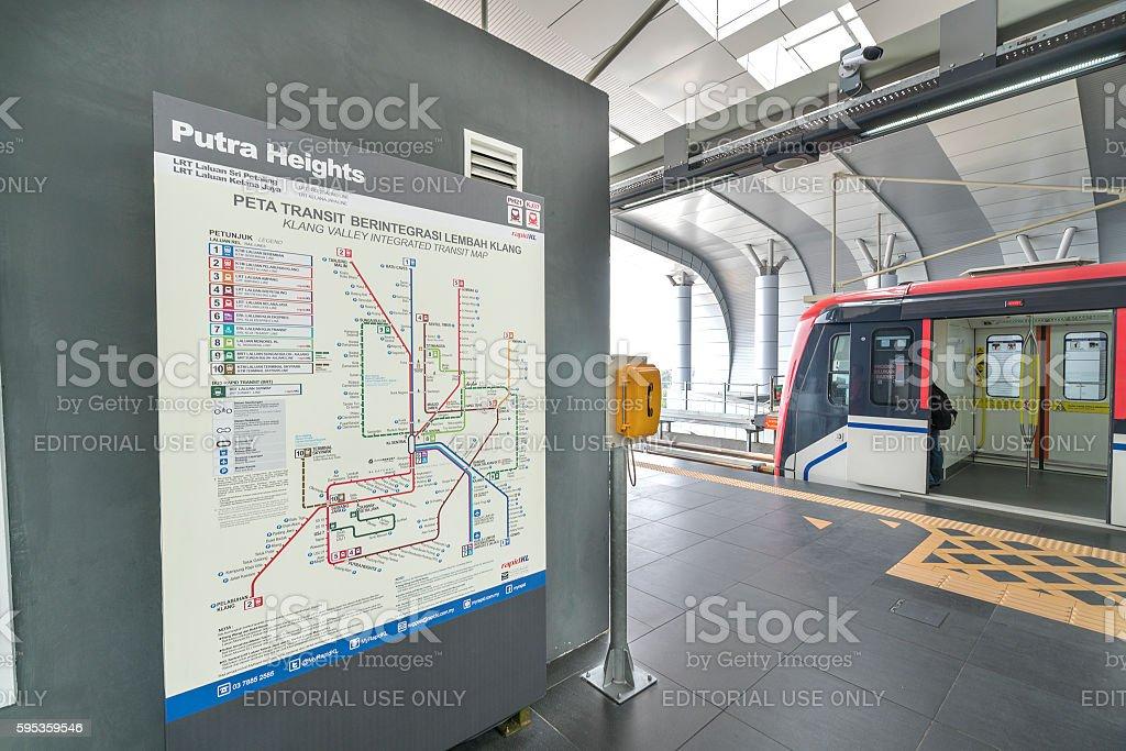 Train transit station stock photo