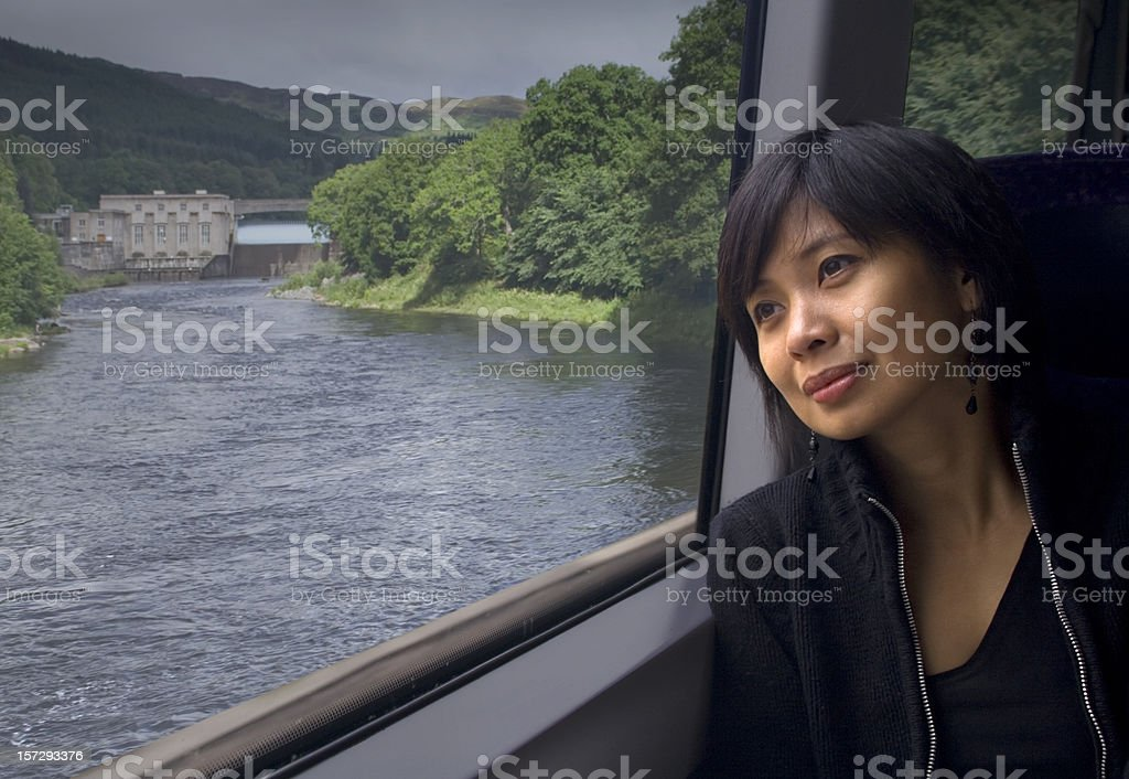 Train travel stock photo