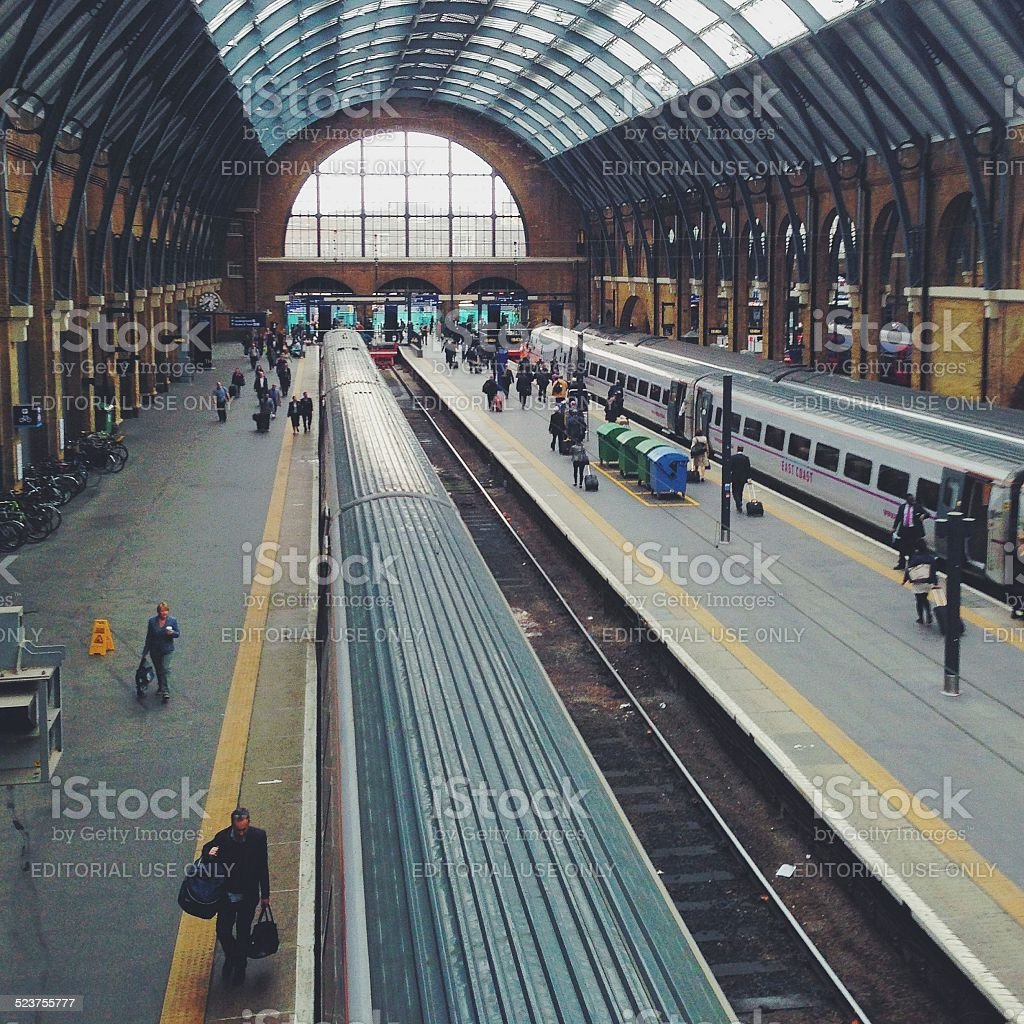 UK Train Travel stock photo
