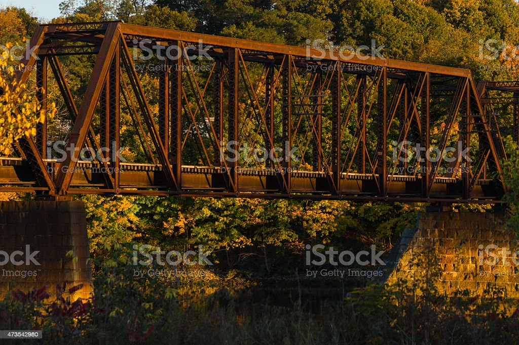 Train trestle stock photo
