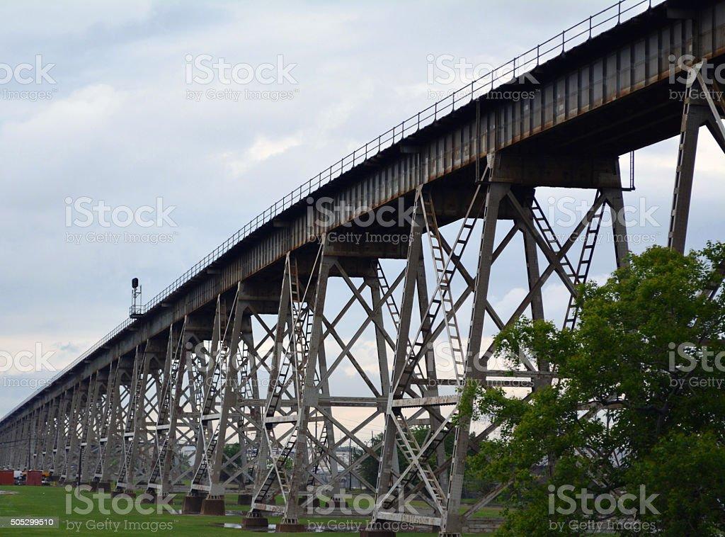 Train Trestle stock photo