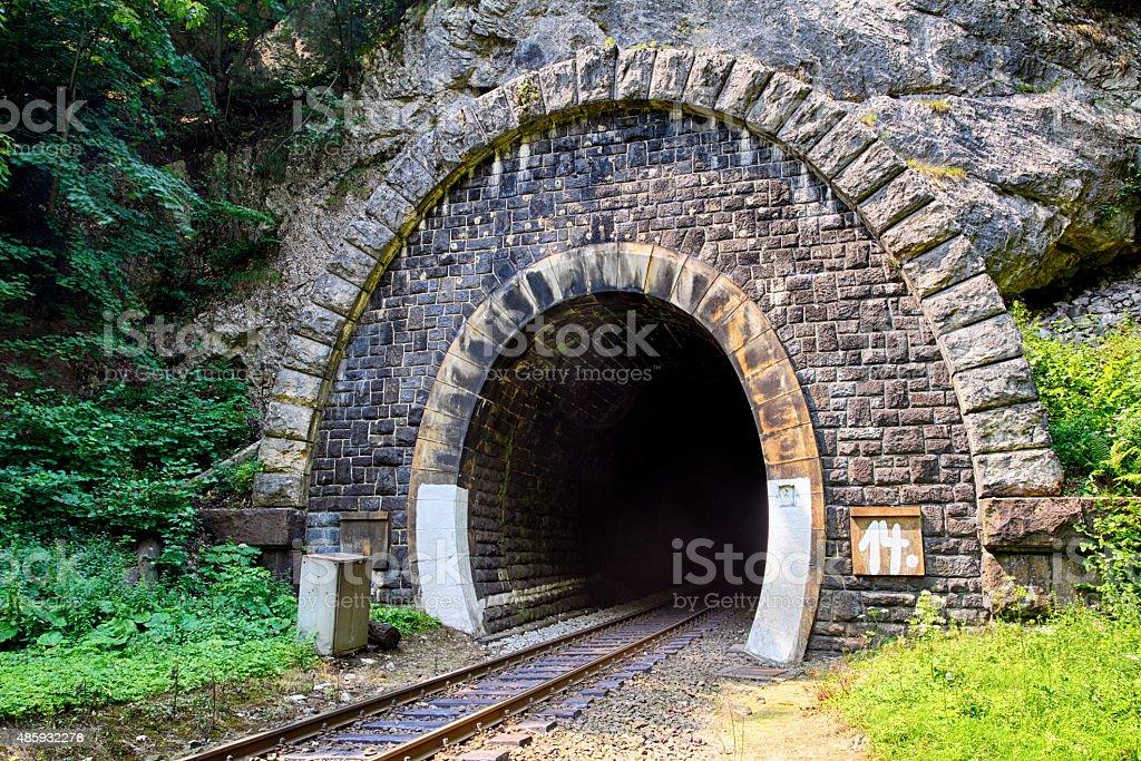 Train Tunnel - Harmanec, Slovakia stock photo