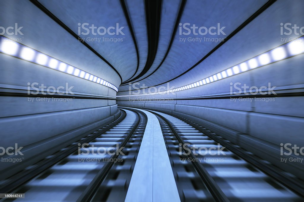 Train Tunnel stock photo