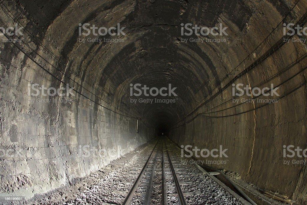 Train tunnel royalty-free stock photo