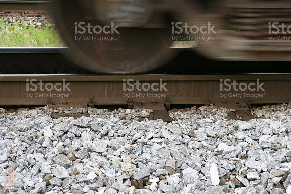 Train Wheel Motion royalty-free stock photo