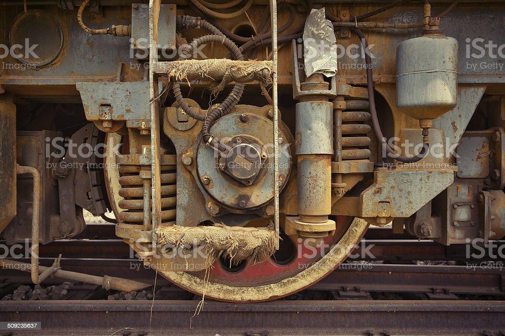 train Wheels royalty-free stock photo