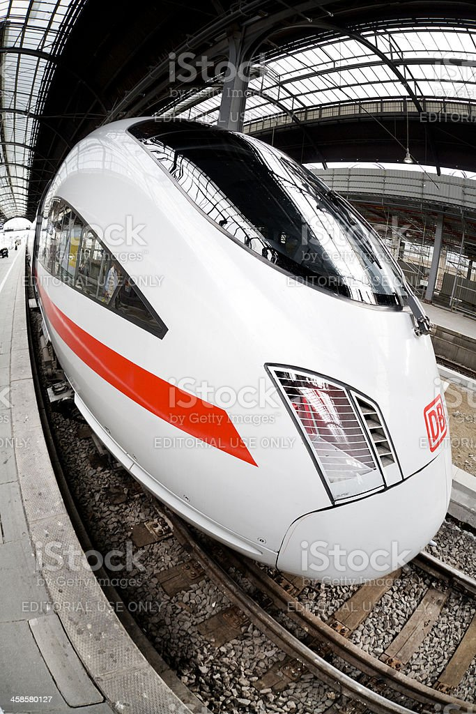 ICE train, wide-angle view stock photo