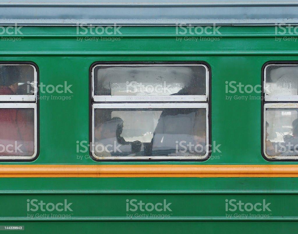 Train window stock photo