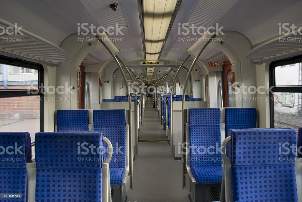 Train with empty seats royalty-free stock photo