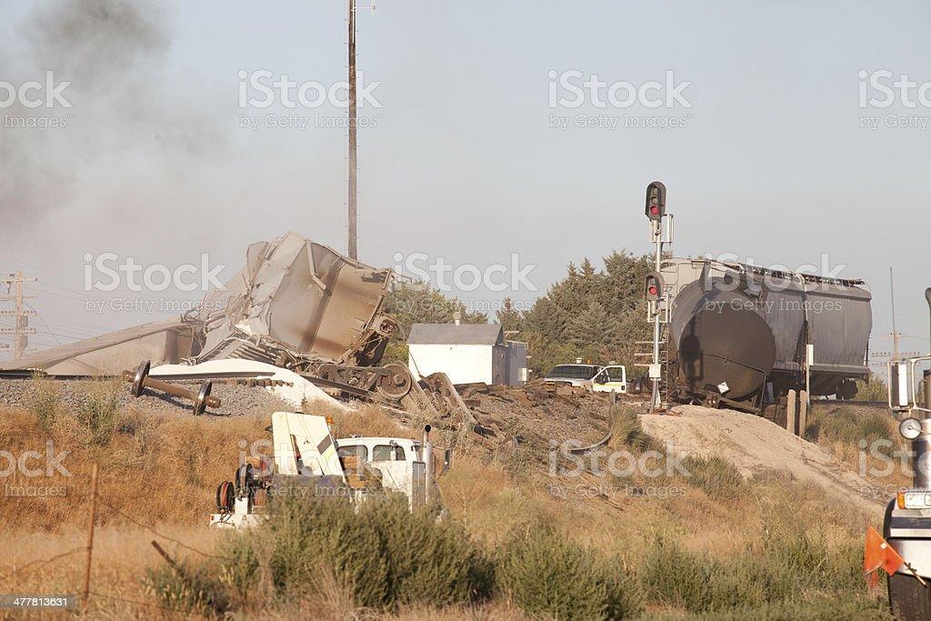 Train Wreck stock photo