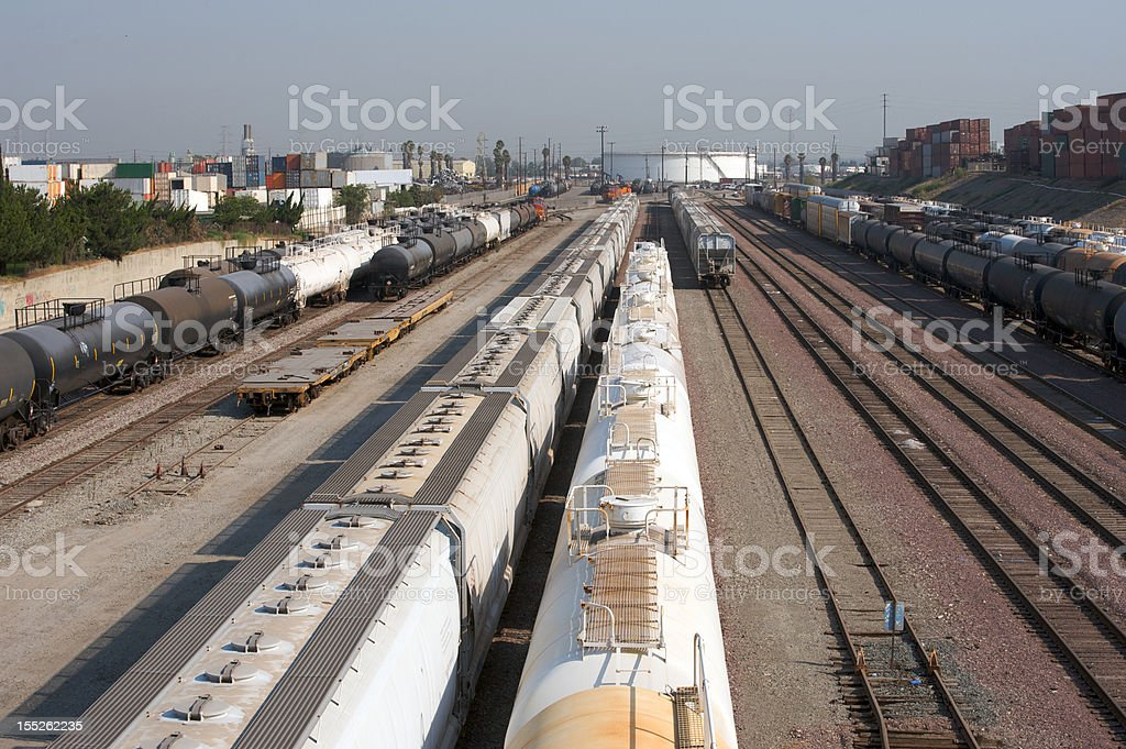 train yard royalty-free stock photo