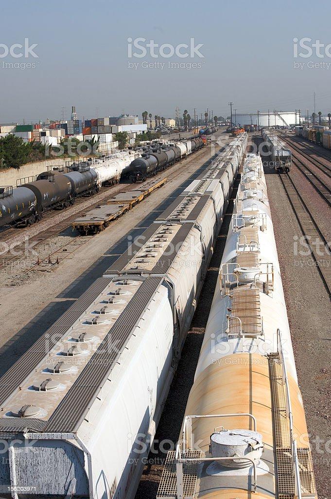 train yard royalty-free stock photo