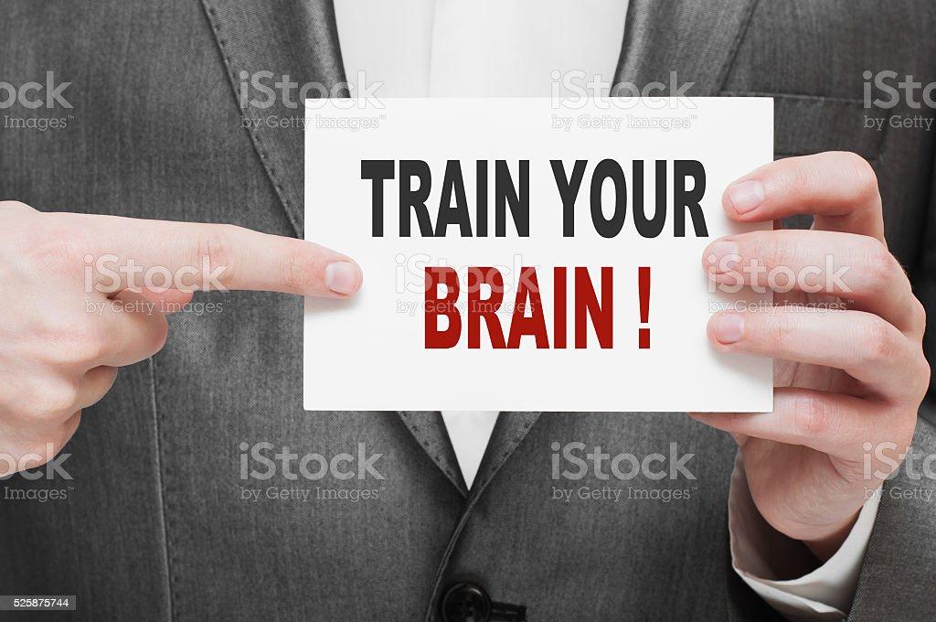 Train Your Brain stock photo