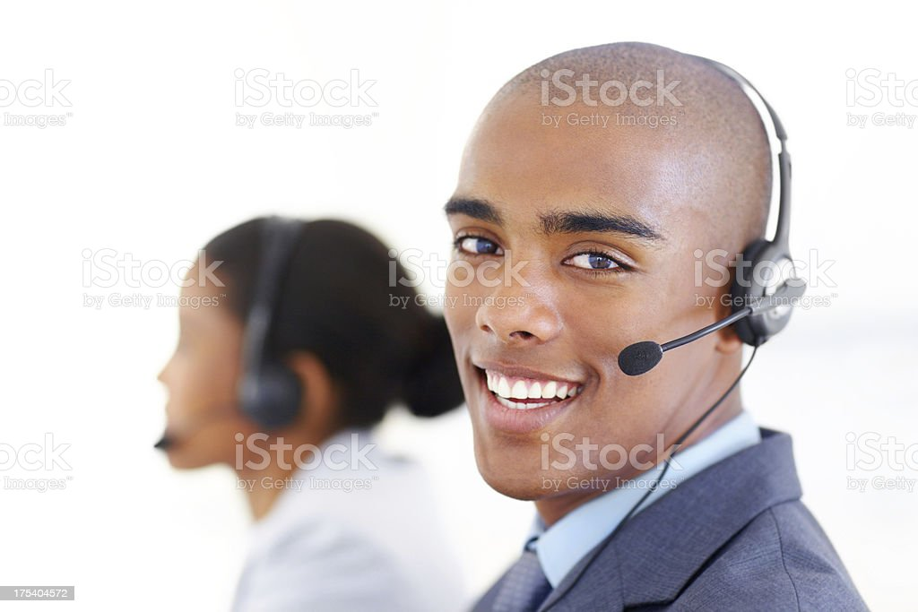 Trained to help you royalty-free stock photo