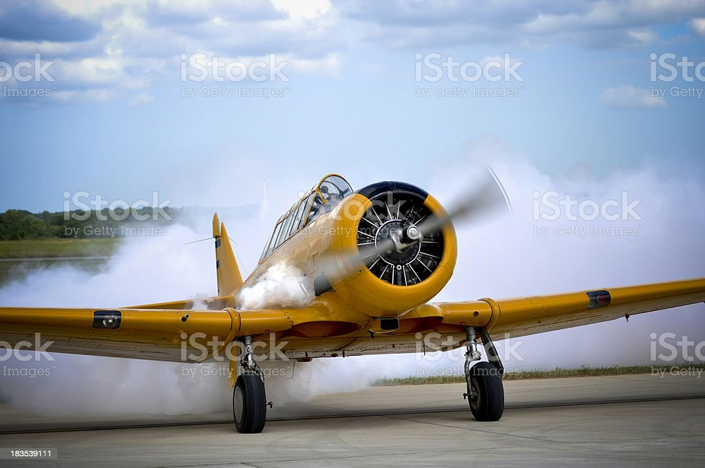 WW2 trainer aircraft royalty-free stock photo