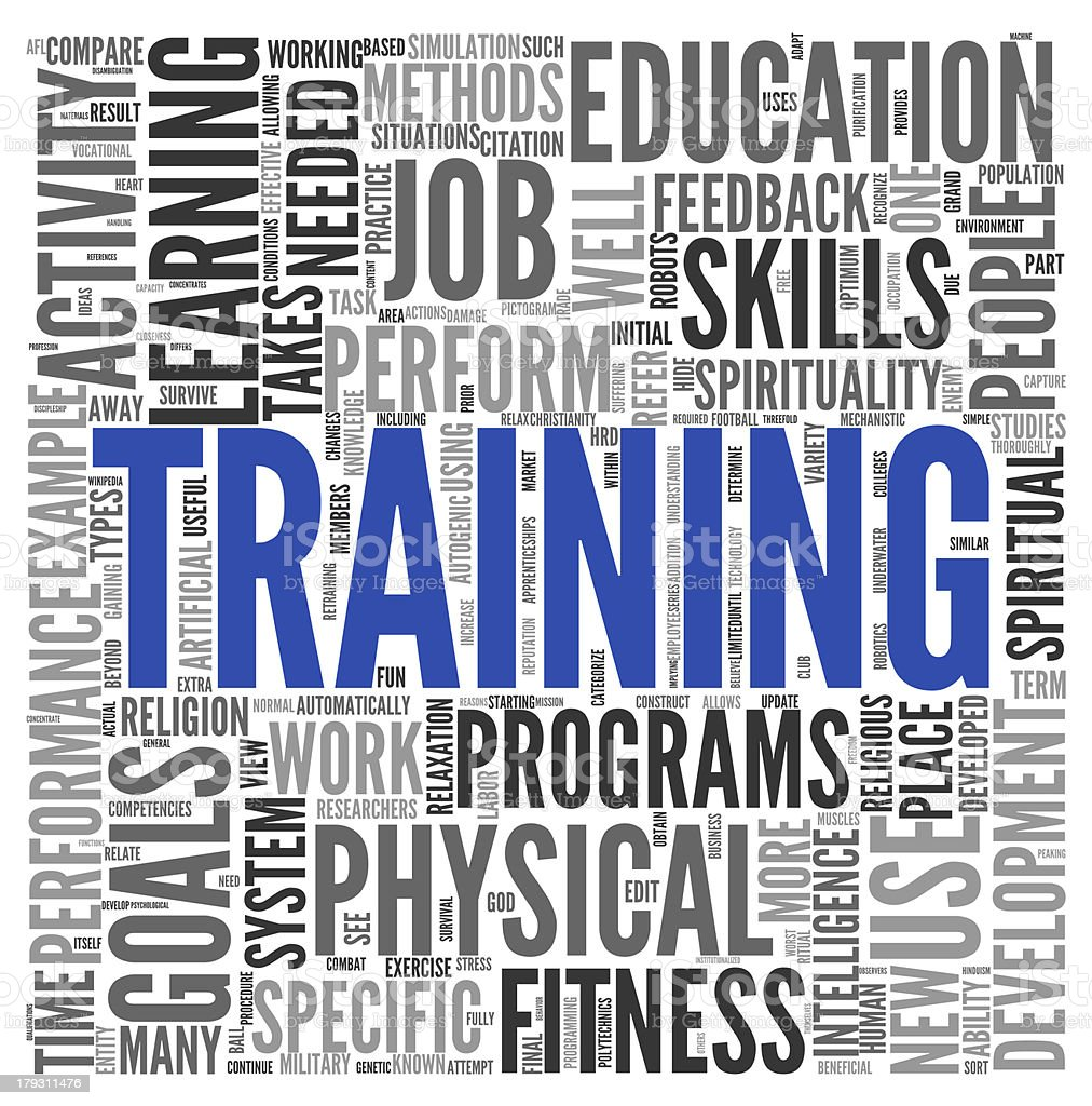 Training and education related words concept royalty-free stock photo