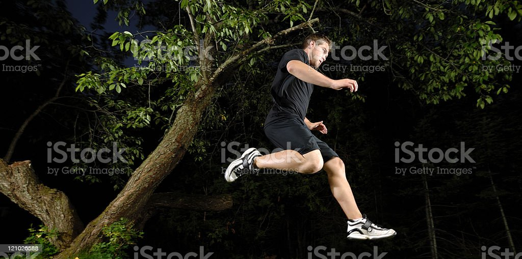 Training at night royalty-free stock photo