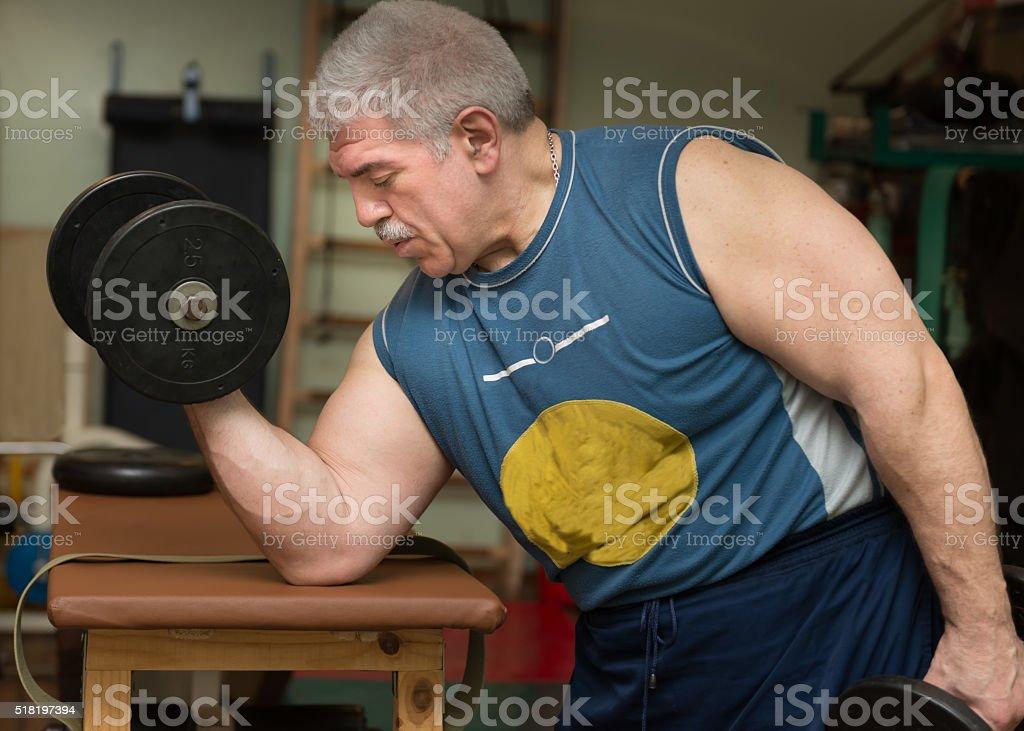 Training athlete. Freestyle wrestling. Ukraine, Dnepropetrovsk. March 22, 2016 stock photo