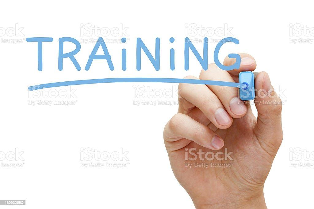 Training Blue Marker stock photo