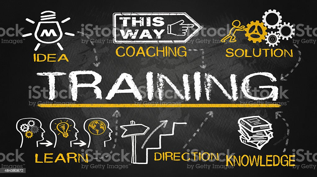 training concept with education elements stock photo