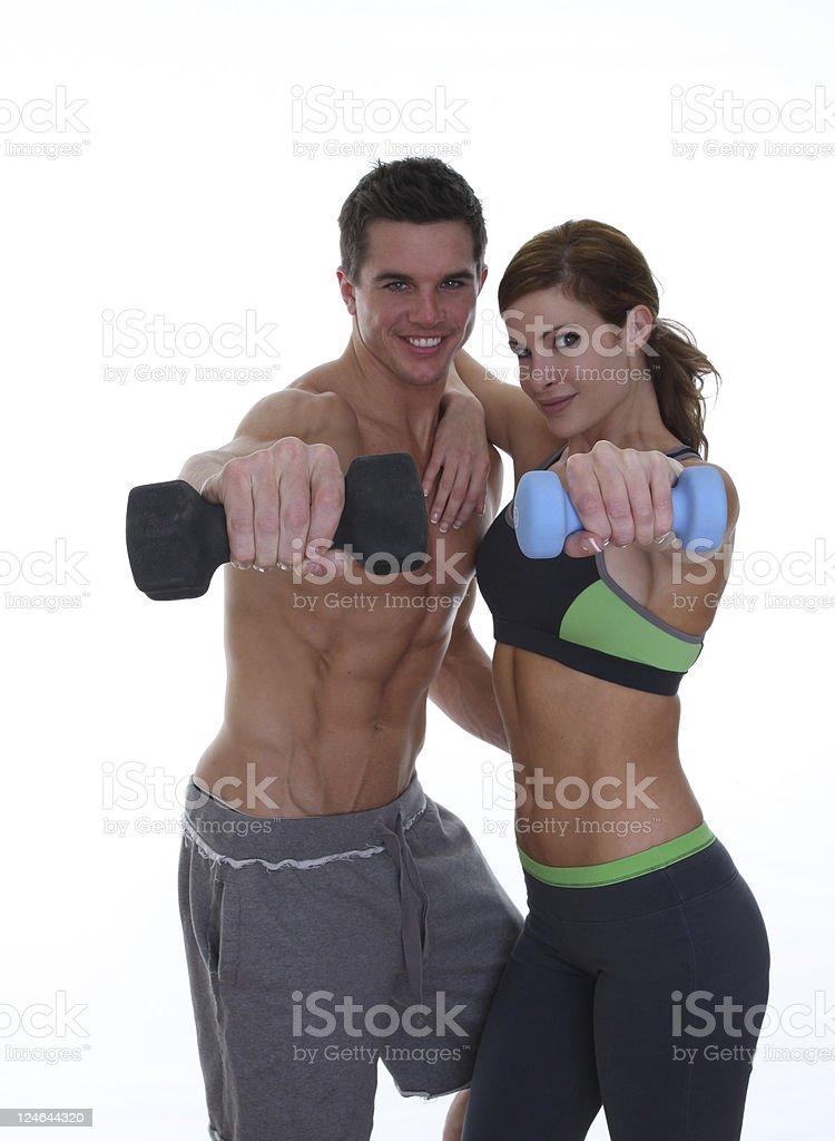 training couple royalty-free stock photo