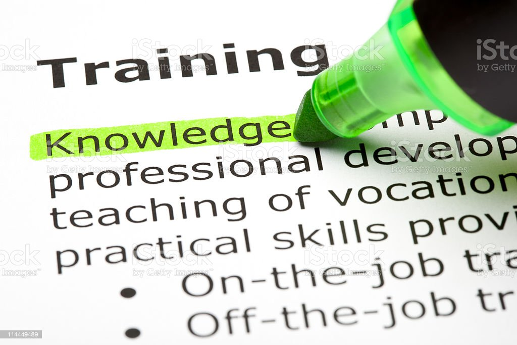 Training Definition royalty-free stock photo