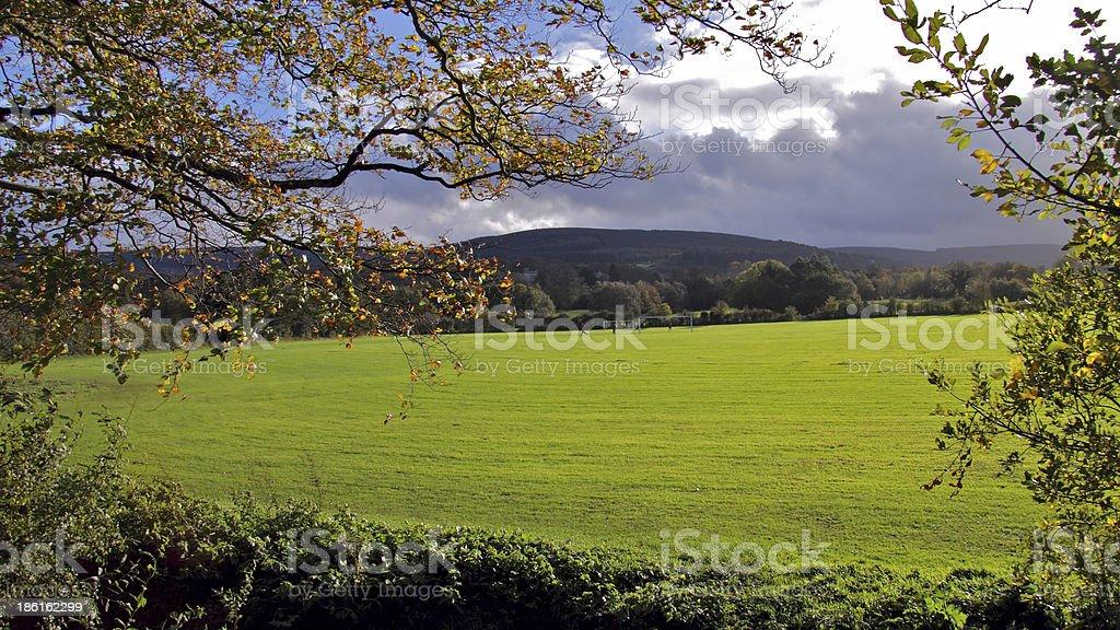 Training field royalty-free stock photo