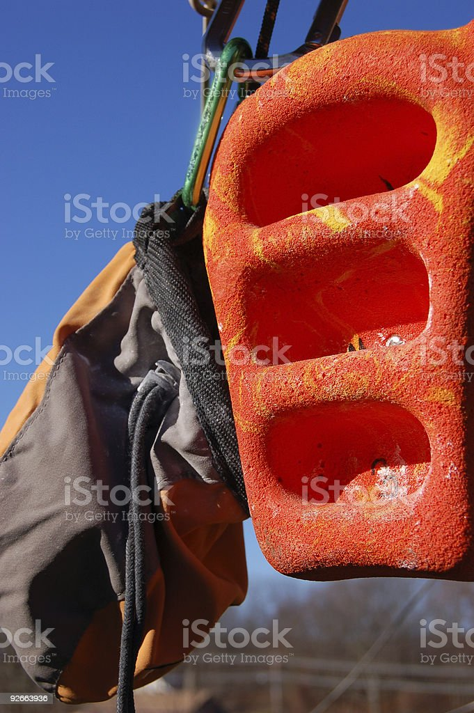 Training for Rock Climbing royalty-free stock photo