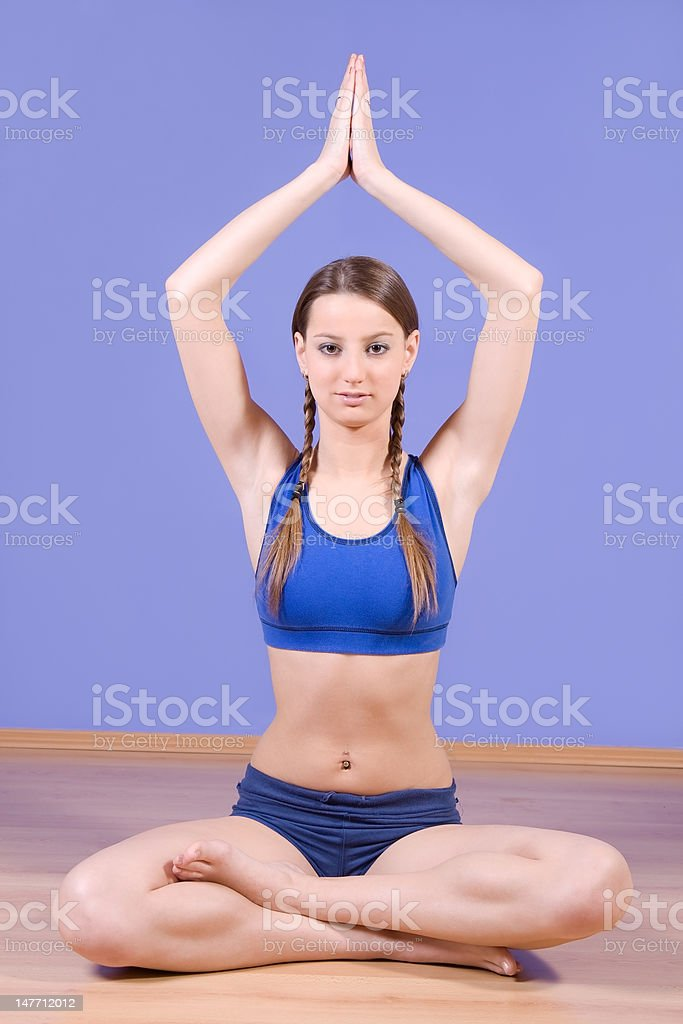training girl stock photo