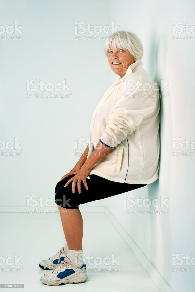 Training her thighs royalty-free stock photo