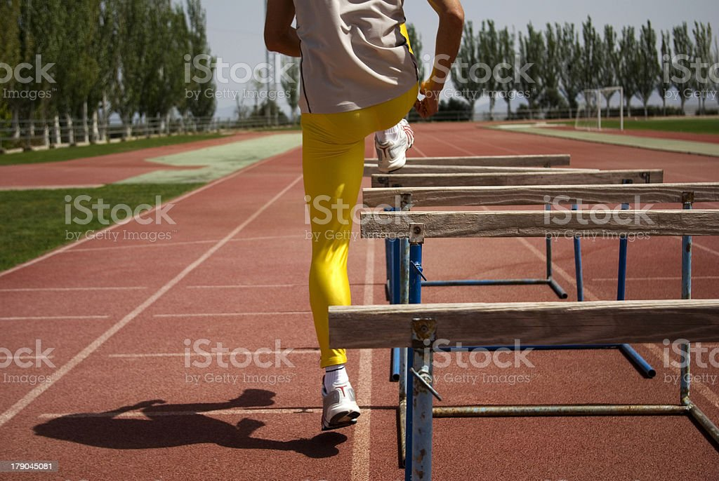 Training hurdles royalty-free stock photo
