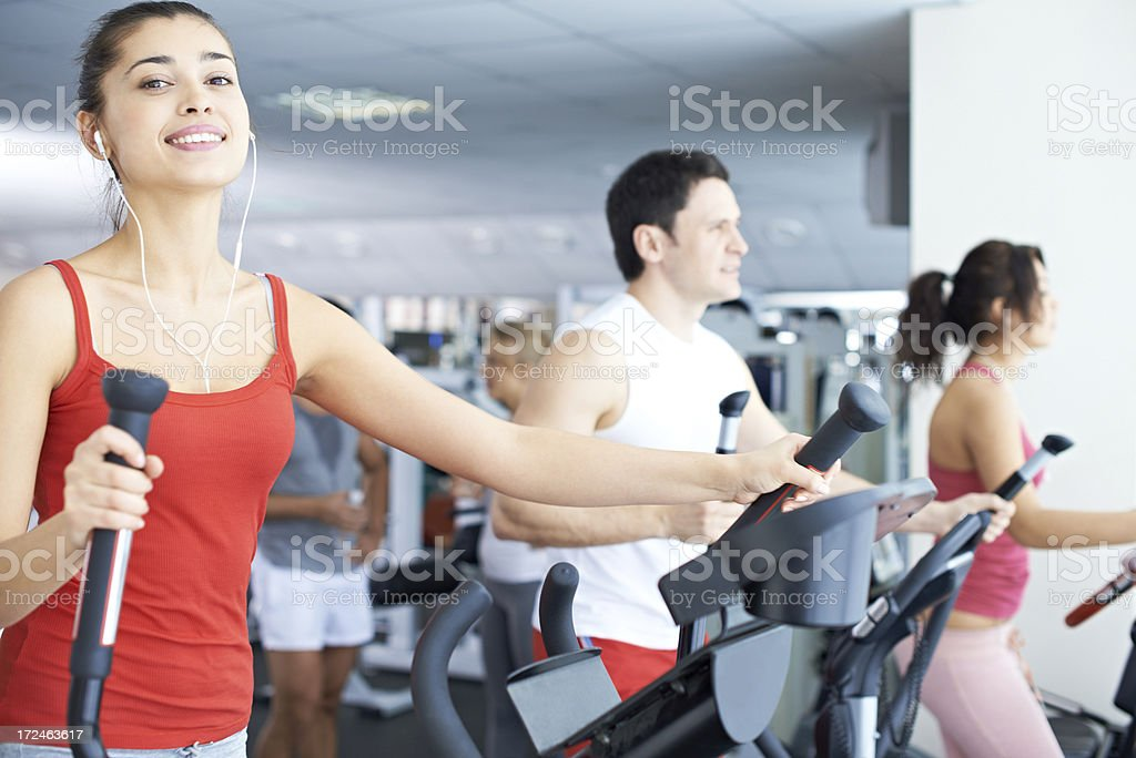 Training in gym royalty-free stock photo