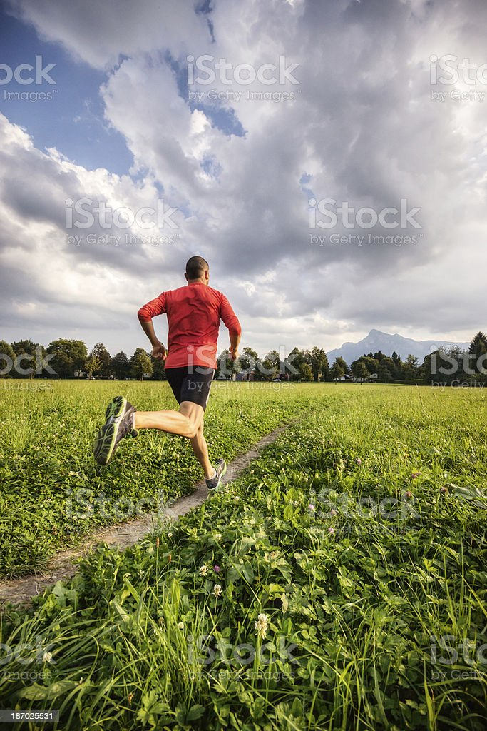 Training in the Alps royalty-free stock photo