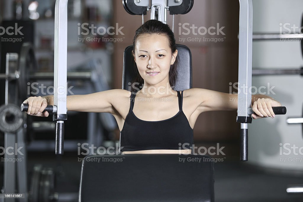 Training in the gym royalty-free stock photo